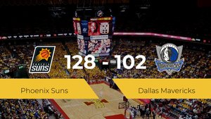 Phoenix Suns se impone por 128-102 frente a Dallas Mavericks