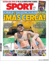 Portada de Sport del 14 de agosto
