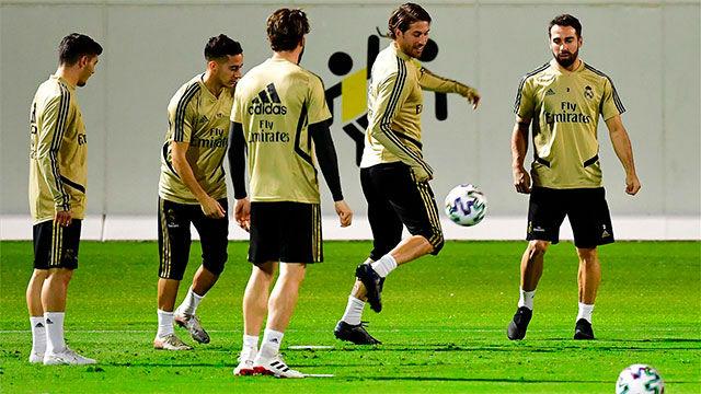 El Real Madrid entrenó en Jeddah antes de medirse al Valencia