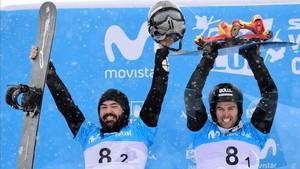 Regino y Eguibar, en el podio de los Mundiales de Sierra Nevada