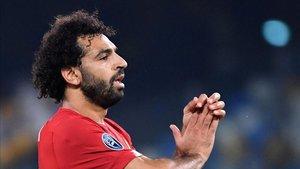 Salah no tuvo su noche en Nápoles