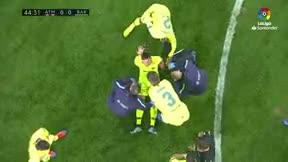 Sergi Roberto salió lesionado del Wanda