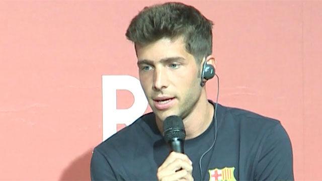 Sergi Roberto valora el inicio de pretemporada del Barça