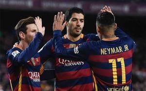 El tridente del FC Barcelona