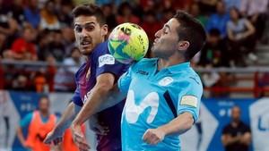 Último duelo de la final entre Barça Lassa y Movistar Inter