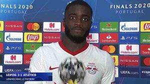 Upamecano fue elegido el mejor del partido Leipzig - Atlético