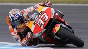 Marc, en acción durante el último GP de Japón
