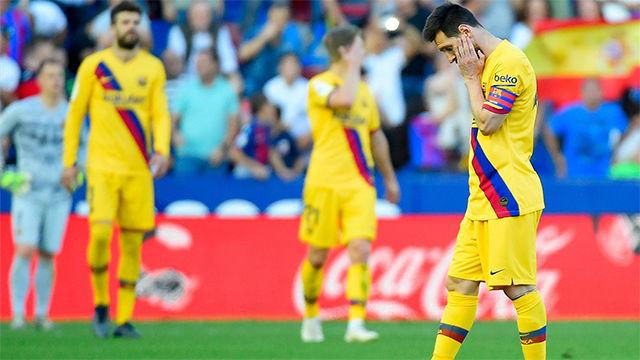 El 1x1 del Barça ante el Levante