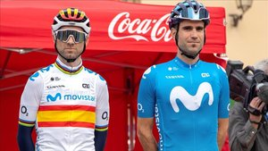 Alejandro Valverde junto a Lluís Mas