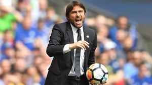 Antonio Conte durante su etapa como entrenador del Chelsea