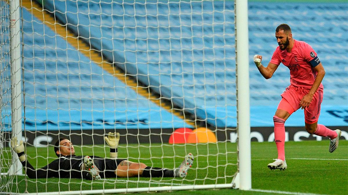 Así narró la radio el gol de Benzema ante el City