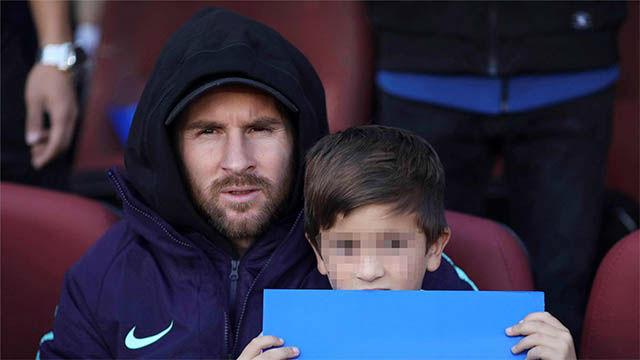 Así vivió el Clásico Messi desde la grada