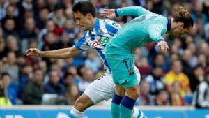El Barça empezó en Anoeta por debajo en el marcador