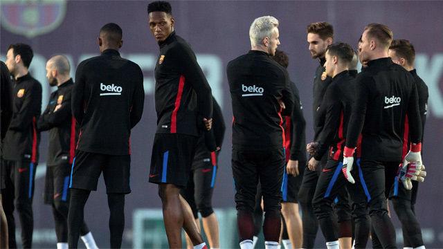 El Barça entrena con Busquets y sin André Gomes