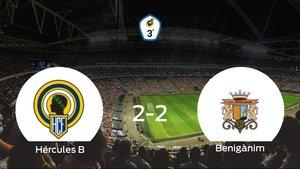 El Benigànim logra un empate a dos frente al Hércules de Alicante B