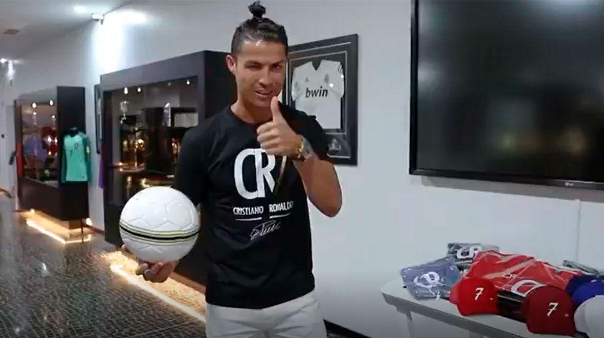 Cristiano Ronaldo presenta la tienda online de su museo