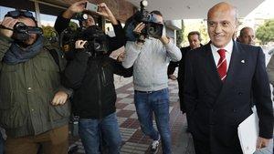 Del Nido, en la Junta de accionistas de 2017 del Sevilla