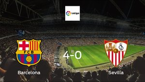 Depleted Sevilla stunned by Barcelona with a 4-0 at Camp Nou
