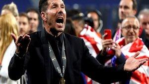 Diego Simeone felicita al Atlético Madrid por su cumpleaños