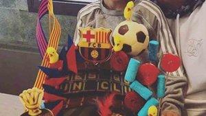 La familia Messi ha celebrado la tradicional fiesta de la mona