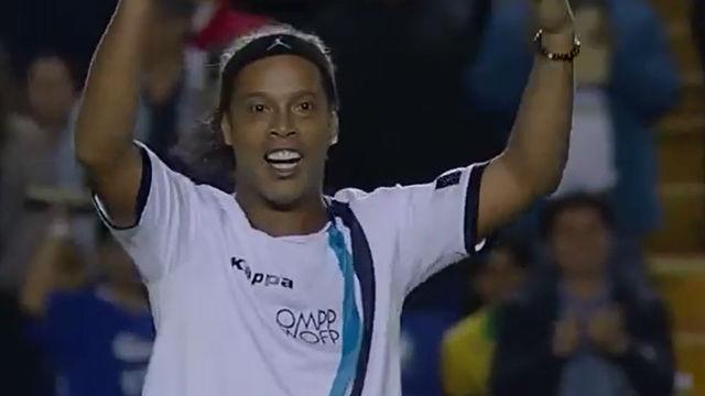 El golazo de Ronaldinho para las Estrellas de América contra los Europeos