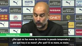 Guardiola, a lo Mourinho tras el gol anulado por el VAR: ¿Por qué? ¿Por qué?
