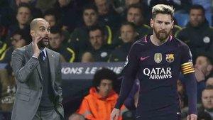Guardiola volvió a elogiar a Leo Messi