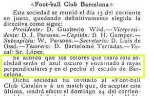 La imagen del texto publicado en Los Deportes en diciembre de 1899 y reproducido por Molins