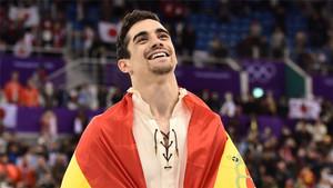 Javier Fernández, tras conquistar la medalla de bronce
