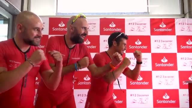 Javier Gómez Noya, en el acto de Barcelona Triathlon by Santander