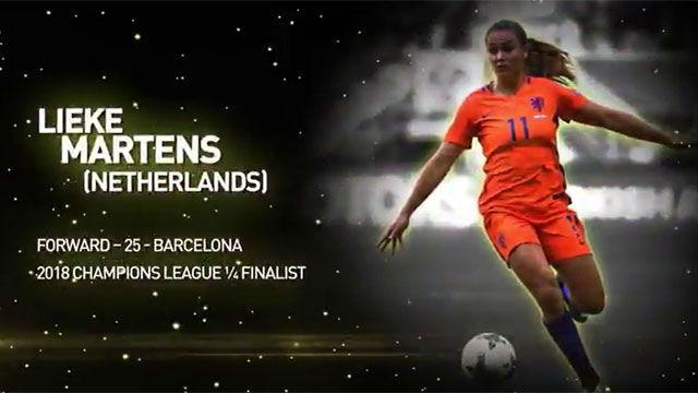 Lieke Martens, nominada al primer Balón de Oro femenino de France Football