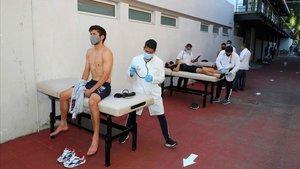 Los jugadores del Chivas se sometieron esta semana a las pruebas del COVID-19