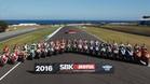 Los pilotos de la parrilla del Mundial de Superbikes 2016