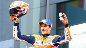 Márquez en el podio