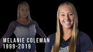 Melanie Coleman falleció solo con 20 años