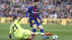 Messi, en un partido ante el Getafe