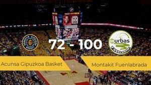 El Montakit Fuenlabrada logra la victoria frente al Acunsa Gipuzkoa Basket por 72-100
