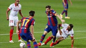 El penalti a Messi fue la jugada polémica del partido