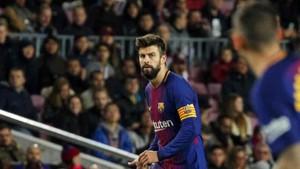 Piqué es el capitán del Barça ante el Sporting de Portugal
