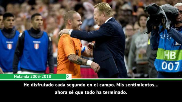 Sneijder deja la selección: Disfruté cada segundo