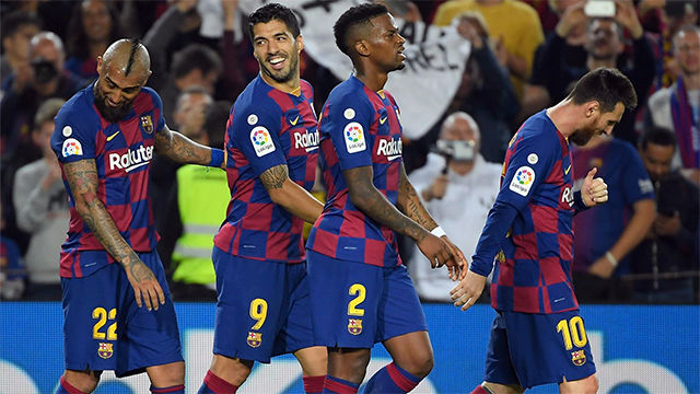 Suárez no desaprovechó otra pase teledirigido de Leo Messi