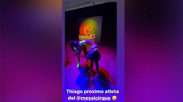 Thiago Messi, ¿nuevo malabarista del Circo del Sol?
