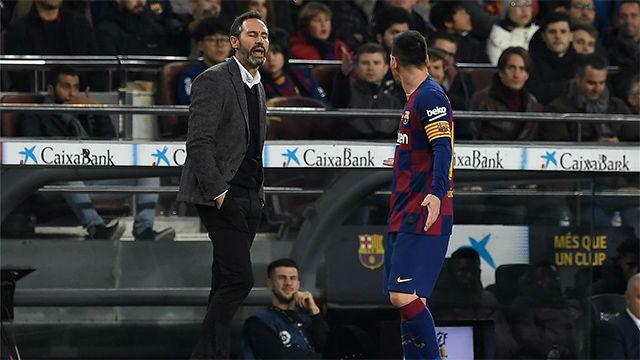 Vicente Moreno, sobre Messi: Hay jugadores que parece que están en una burbuja
