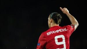 Zlatan Ibrahimovic, en un partido con el Manchester United