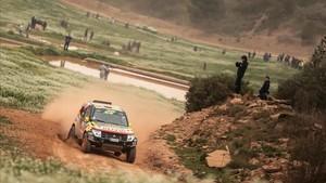 Exhibicion vehiculos del Dakar
