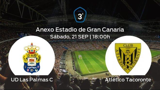 Previa del partido: Las Palmas C recibe en casa al Atlético Tacoronte