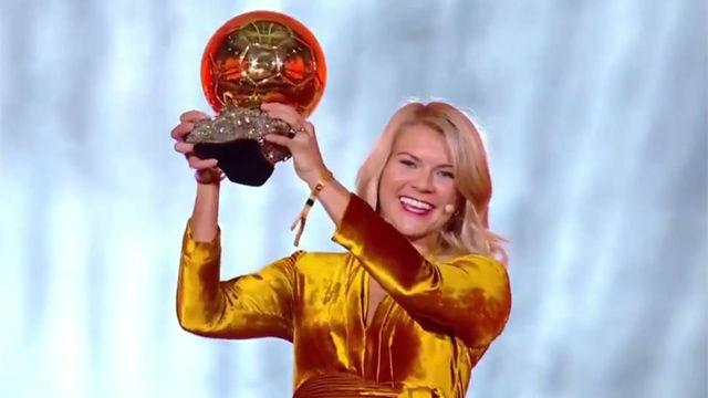 Ada Hegerberg gana el primer Balón de Oro femenino