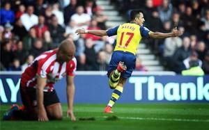 Alexis, celebrando uno de sus goles