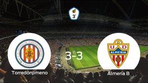 El Almería B consigue un empate a tres frente al Torredonjimeno