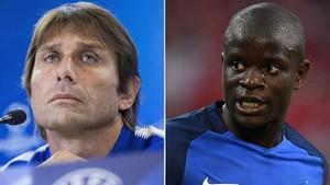 Antonio Conte y NGolo Kanté analizan la previa del FC Barcelona - Chelsea de este miércoles en el Camp Nou